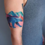Colorful Polar Bear Tattoo