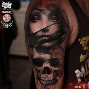 Veiled Portrait & Skull