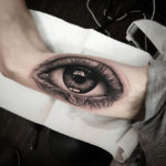 Mens Realistic Eye Tattoo