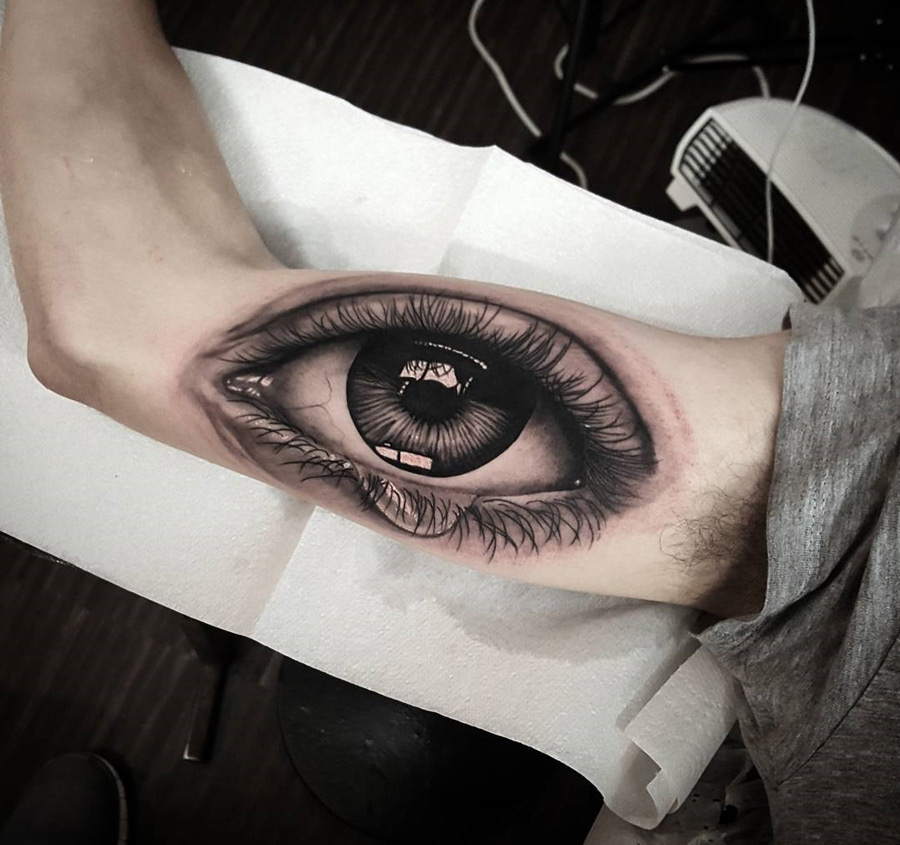 human eye on guys arm best tattoo design ideas. Black Bedroom Furniture Sets. Home Design Ideas