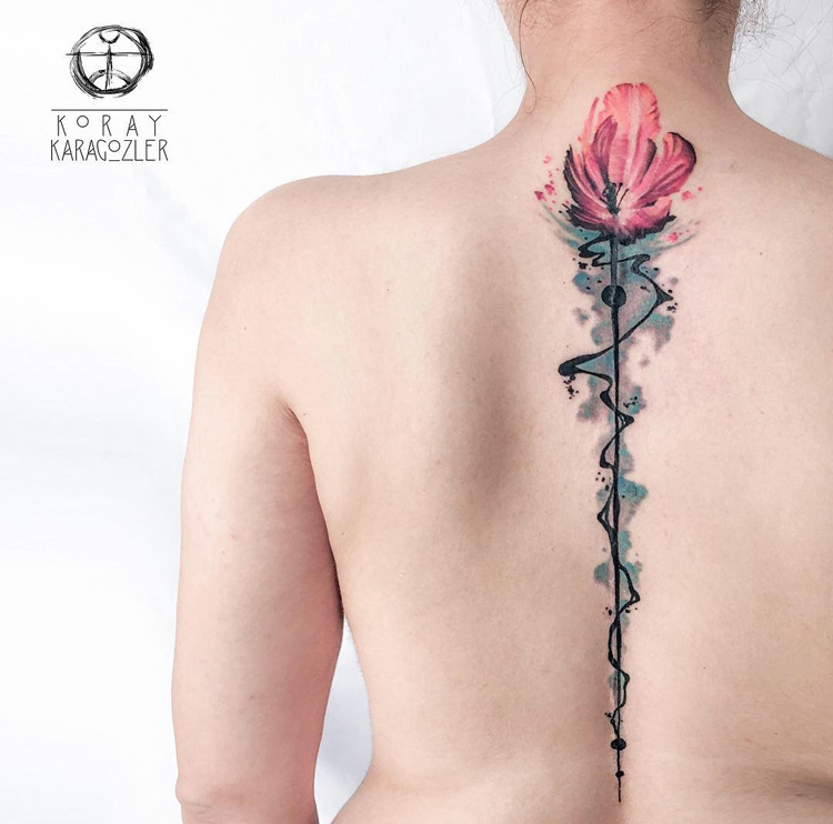 Tulip on Girls Spine & Neck