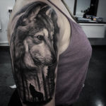 Wolfpack girls tattoo