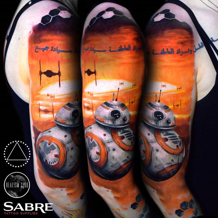 BB-8 Droid & TIE Fighters Star Wars Sleeve