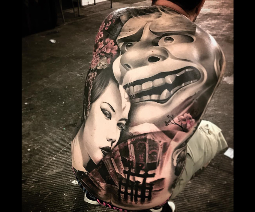 Hannya Japanese Back