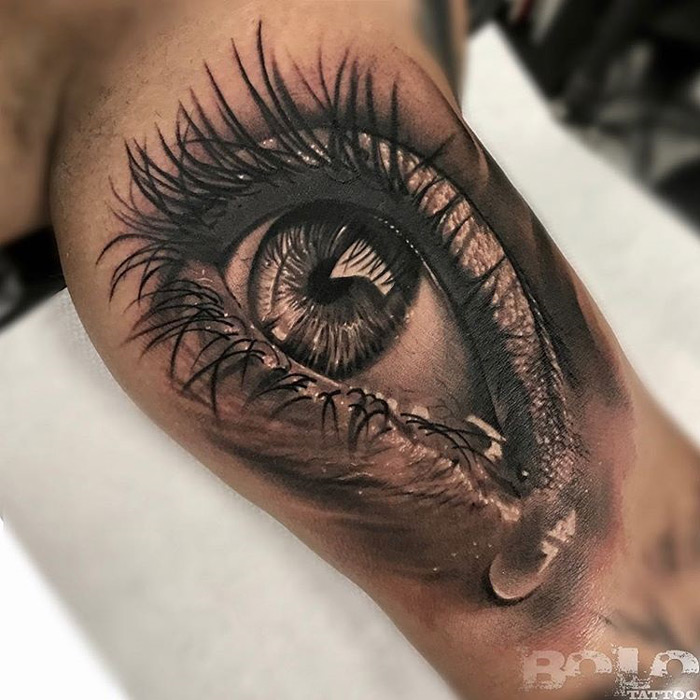 teary eye mens inner arm realism piece best tattoo design ideas. Black Bedroom Furniture Sets. Home Design Ideas