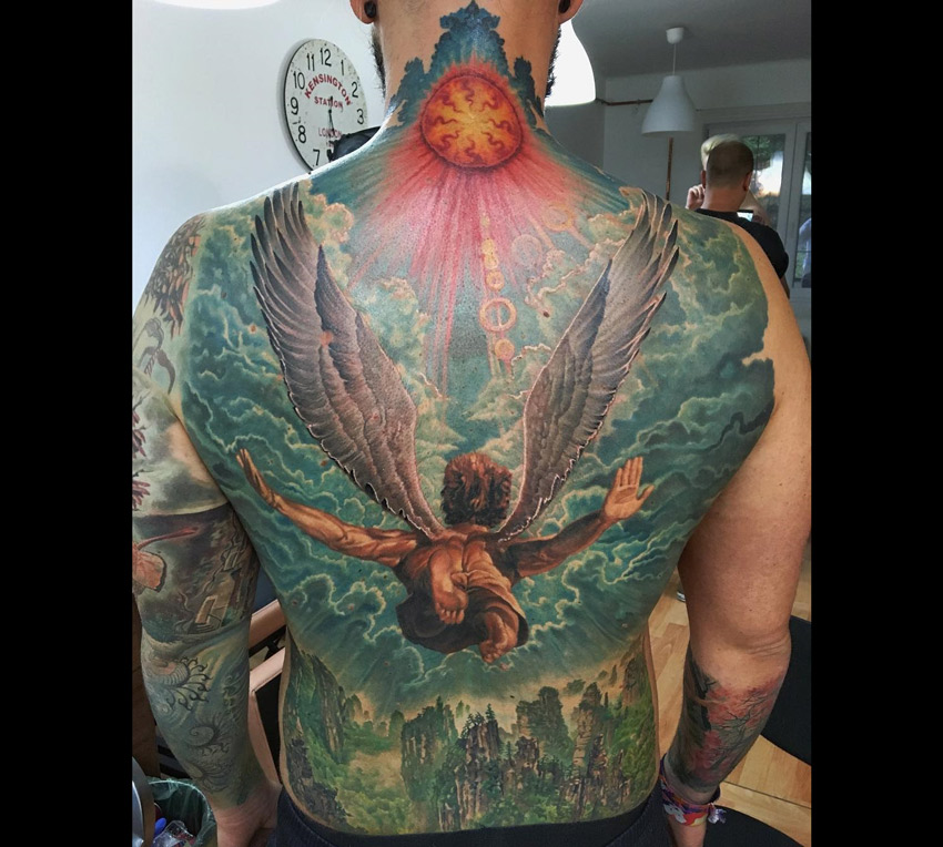 Religious tattoos tattoo ideas for Angel back tattoo