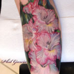 Gladiolus Flower Tattoo
