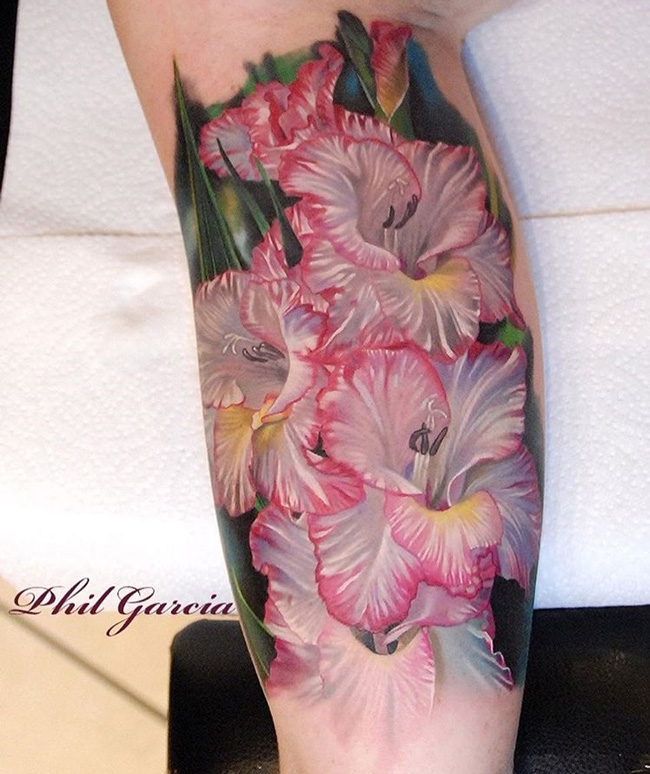 Gladiolus Floral Tattoo