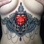 Ruby Ornamental Underboob