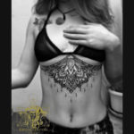 Mandala & Lotus Under boob Tattoo
