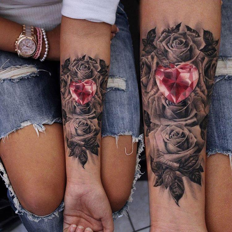 Roses & Ruby Heart