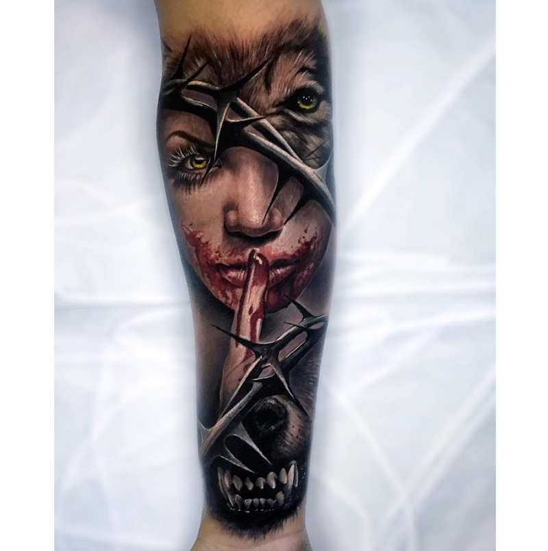 Werewolf Forearm Tattoo | Best tattoo design ideas