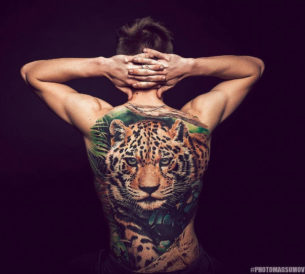 Leopard Back Tattoo