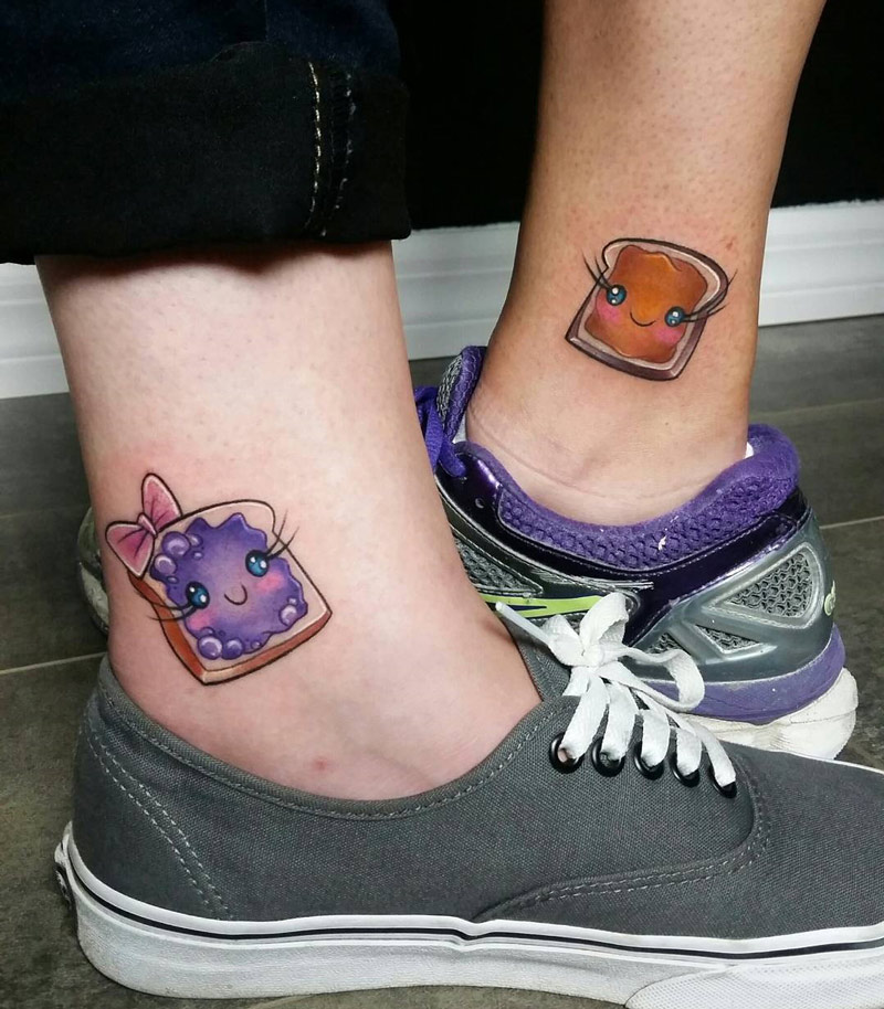 PB & J sandwich tattoos