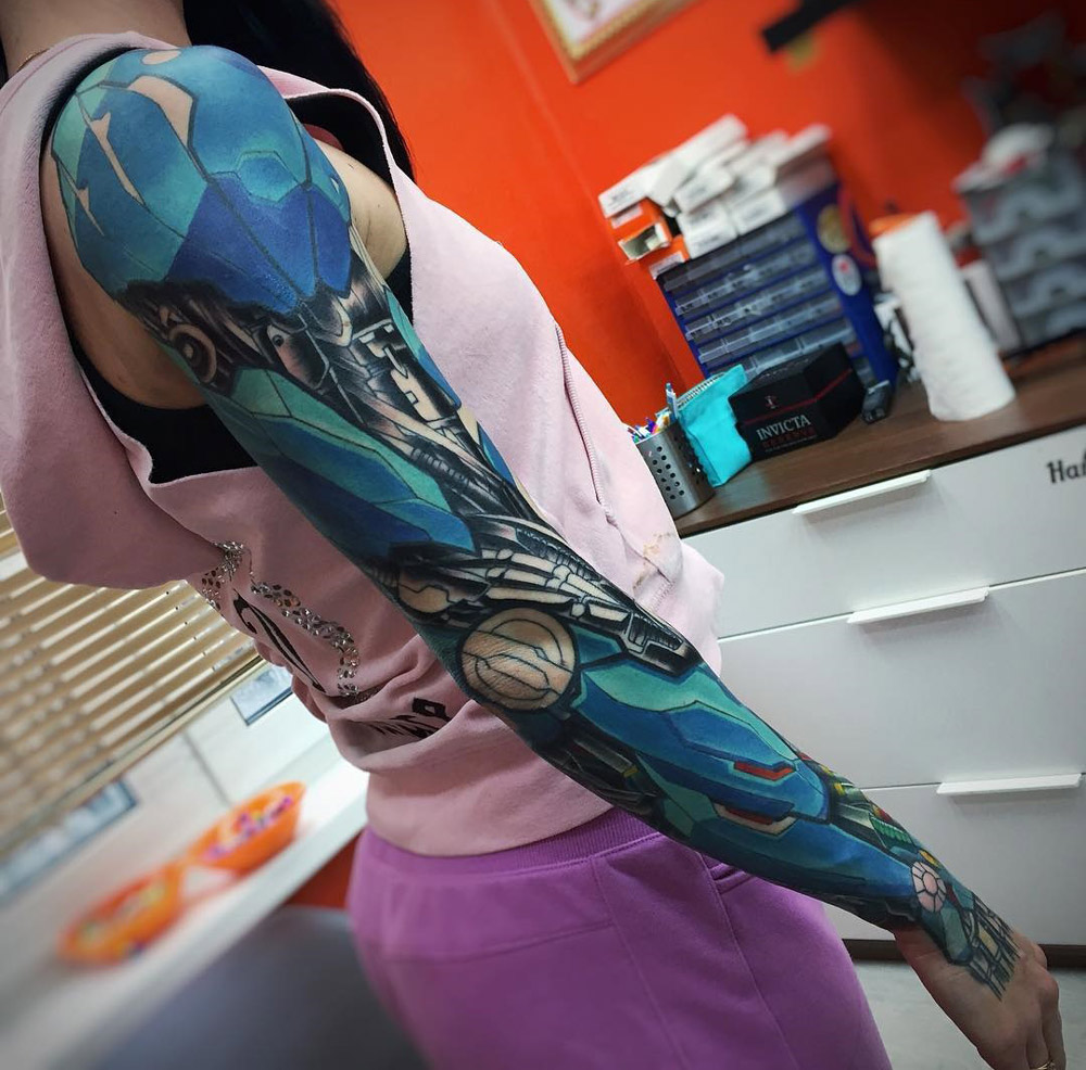 Blue Biomechanical Sleeve