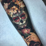 Floral Day of the Dead Tattoo
