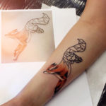 Geometric Fox Arm Tattoo
