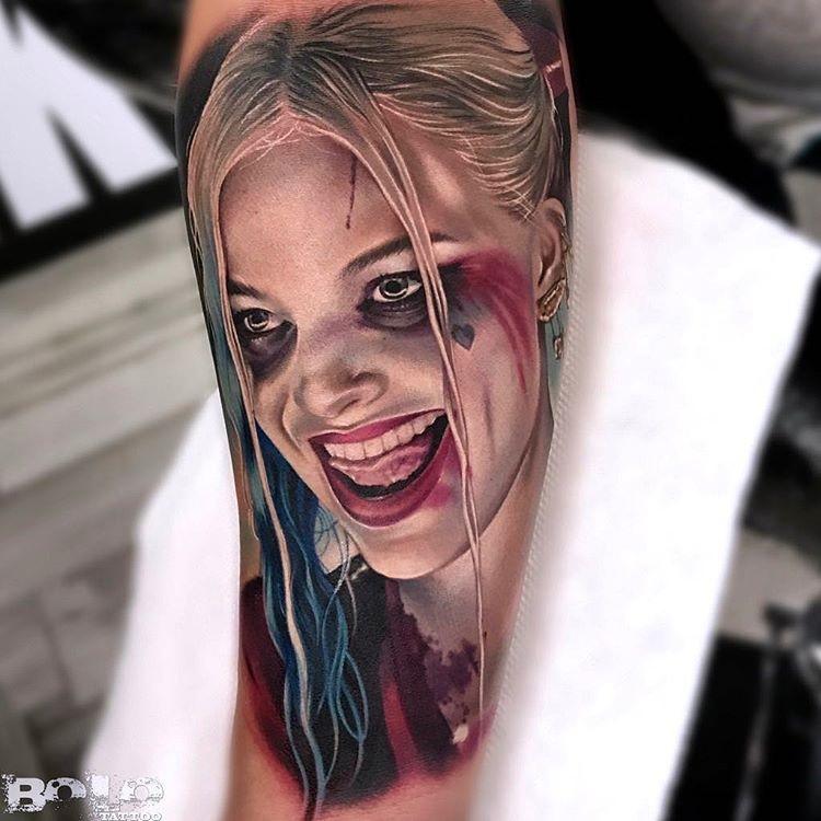 Realistic Harley Quinn Portrait