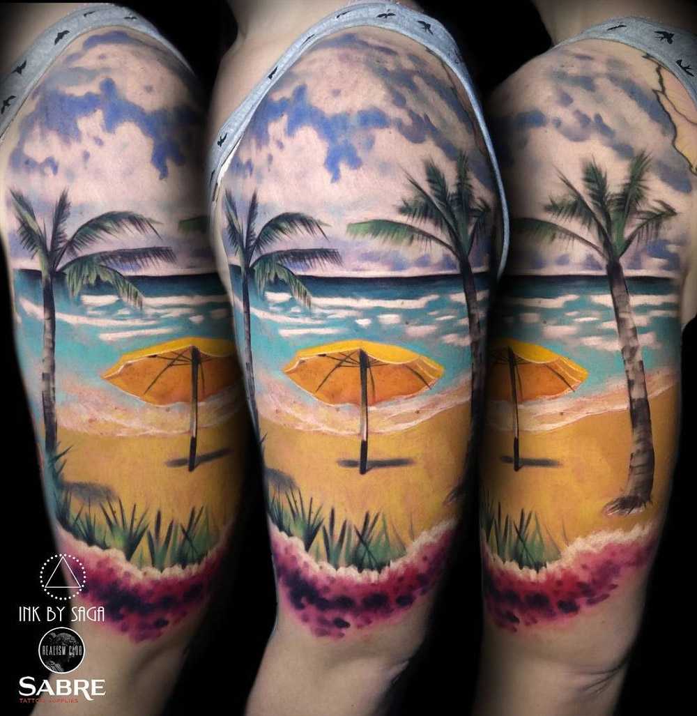 Hawaiian Beach Tattoo