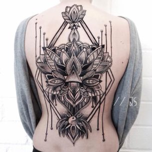 Ornamental Mandala Back Tattoo