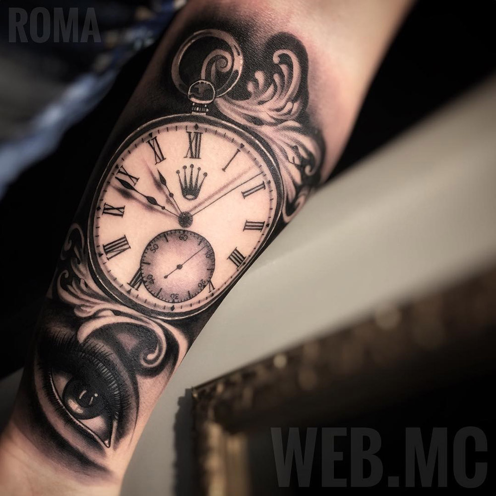 Rolex Pocket Watch Tattoo