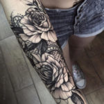 Roses & Lace Tattoo
