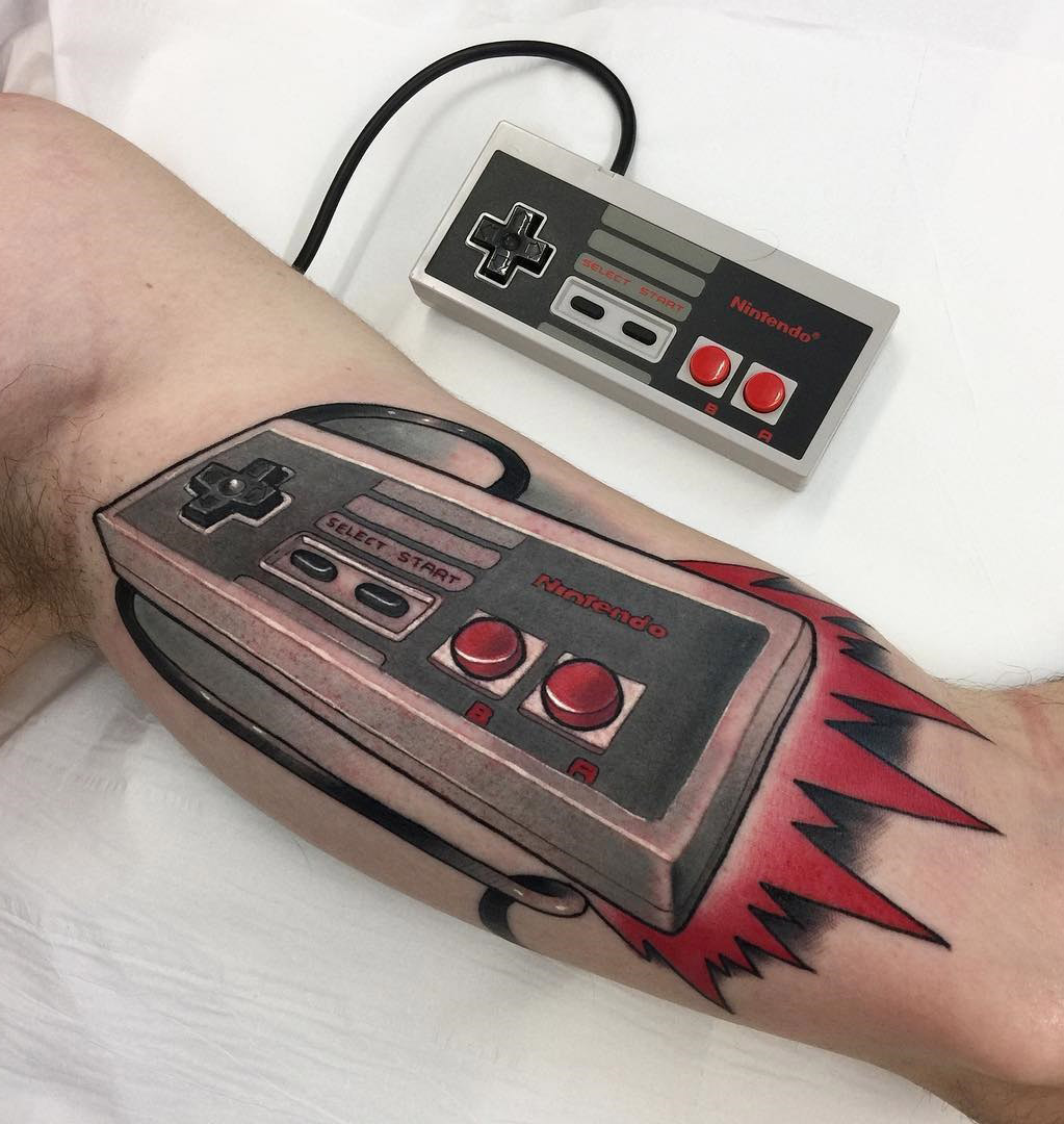 nes nintendo controller best tattoo design ideas rh tattoo ideas com