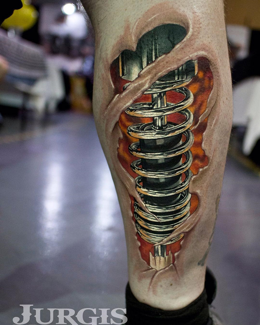 Shock Absorber Biomechanical Tattoo