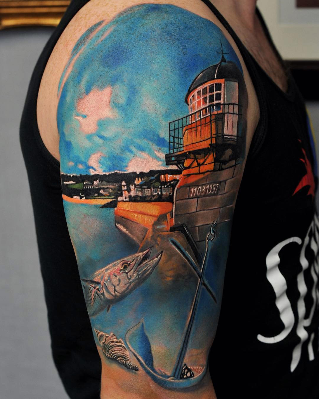 St Ives Cornwall Harbor Tattoo