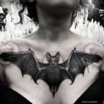 Bat Chest Tattoo