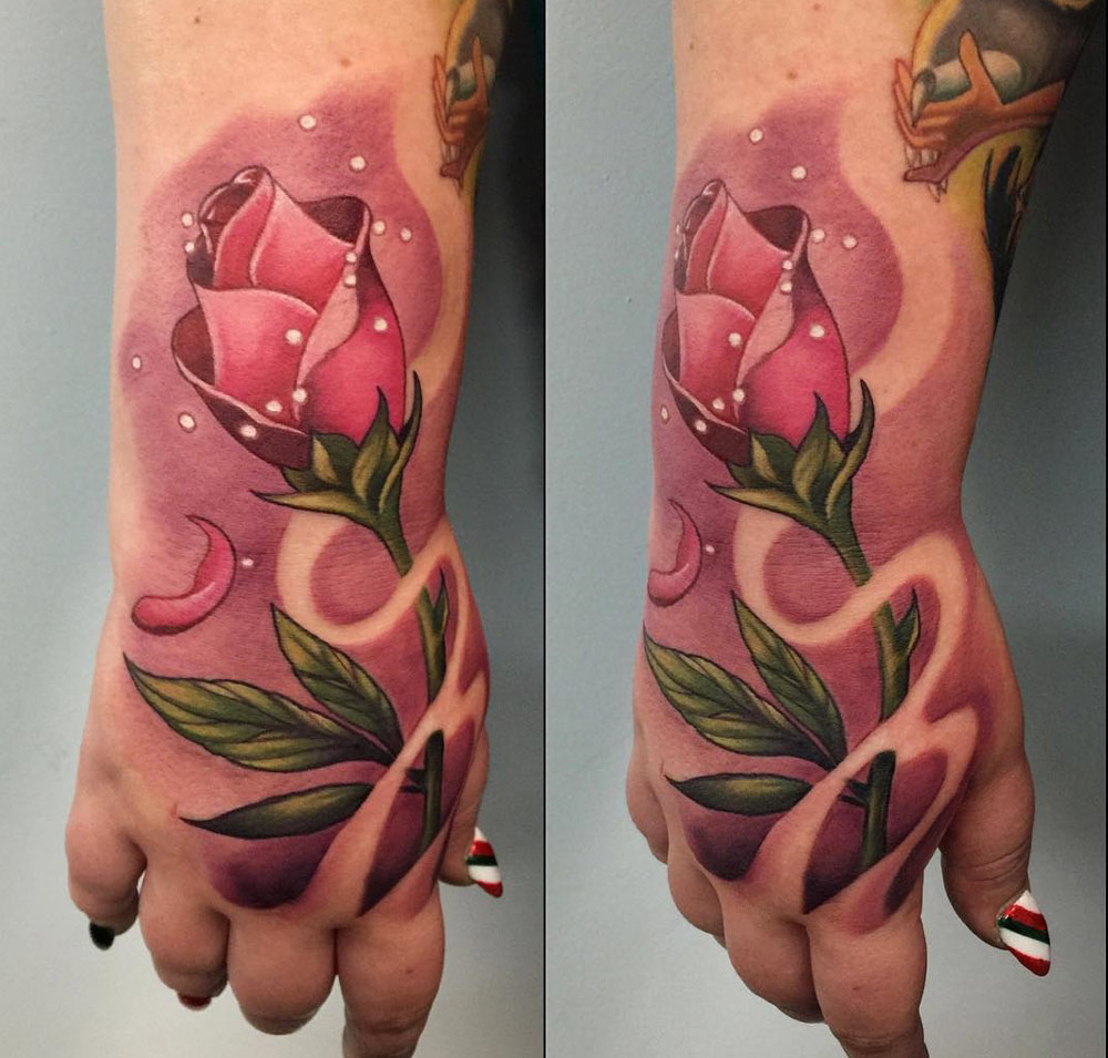 Pinki Rose Tattoo from Beauty and the Beast