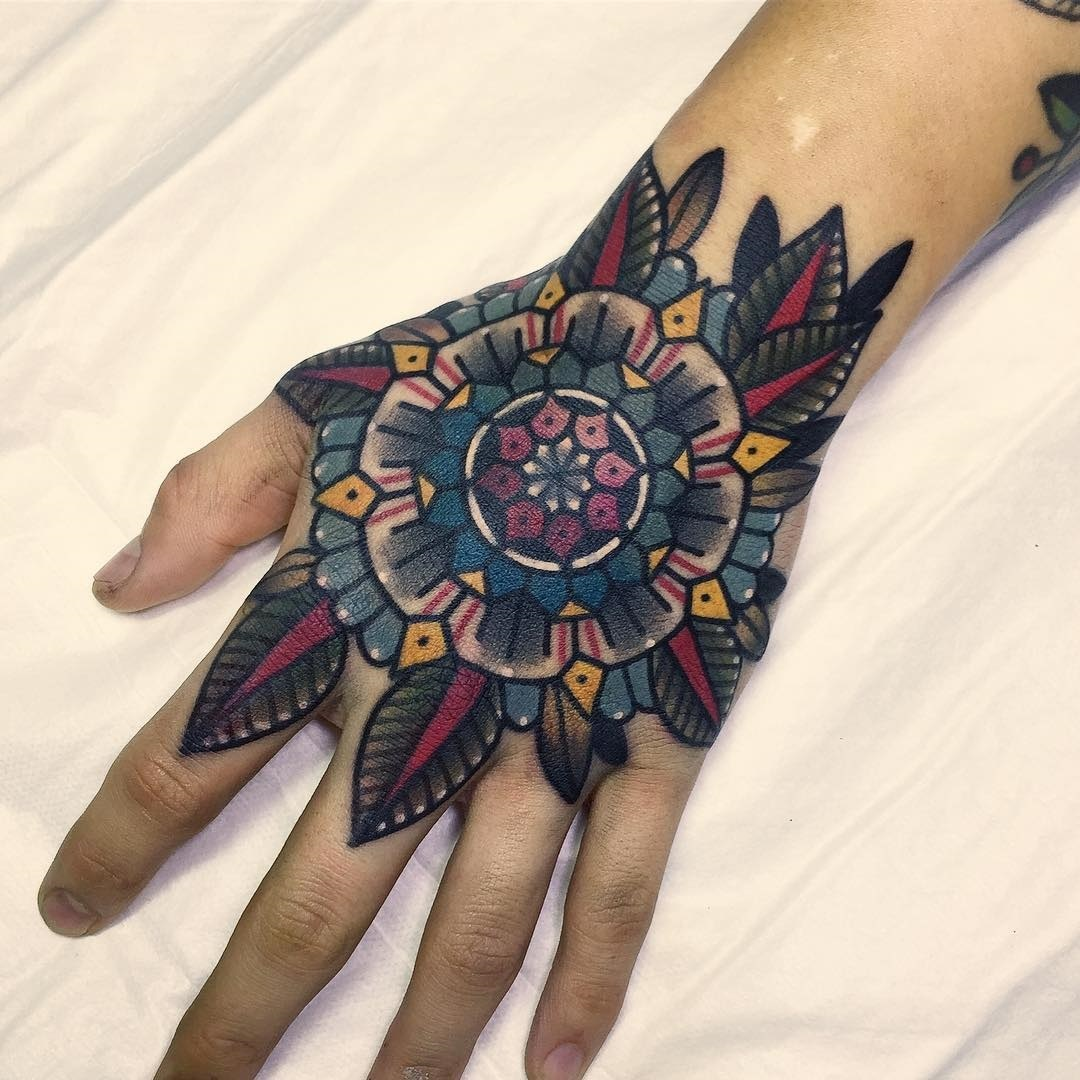 Colorful Hand Mandala