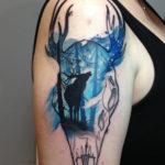 Deer & Skull Tattoo