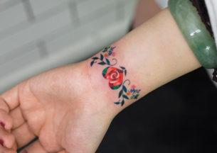 Floral Heart Bracelet