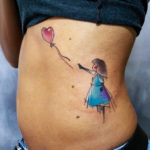 Banksy Girl & Balloon Tattoo