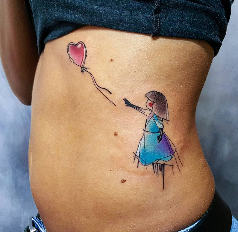 Girl & Balloon Inspired by Banksy