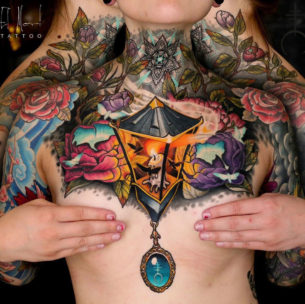 Lantern & Moths Chestpiece
