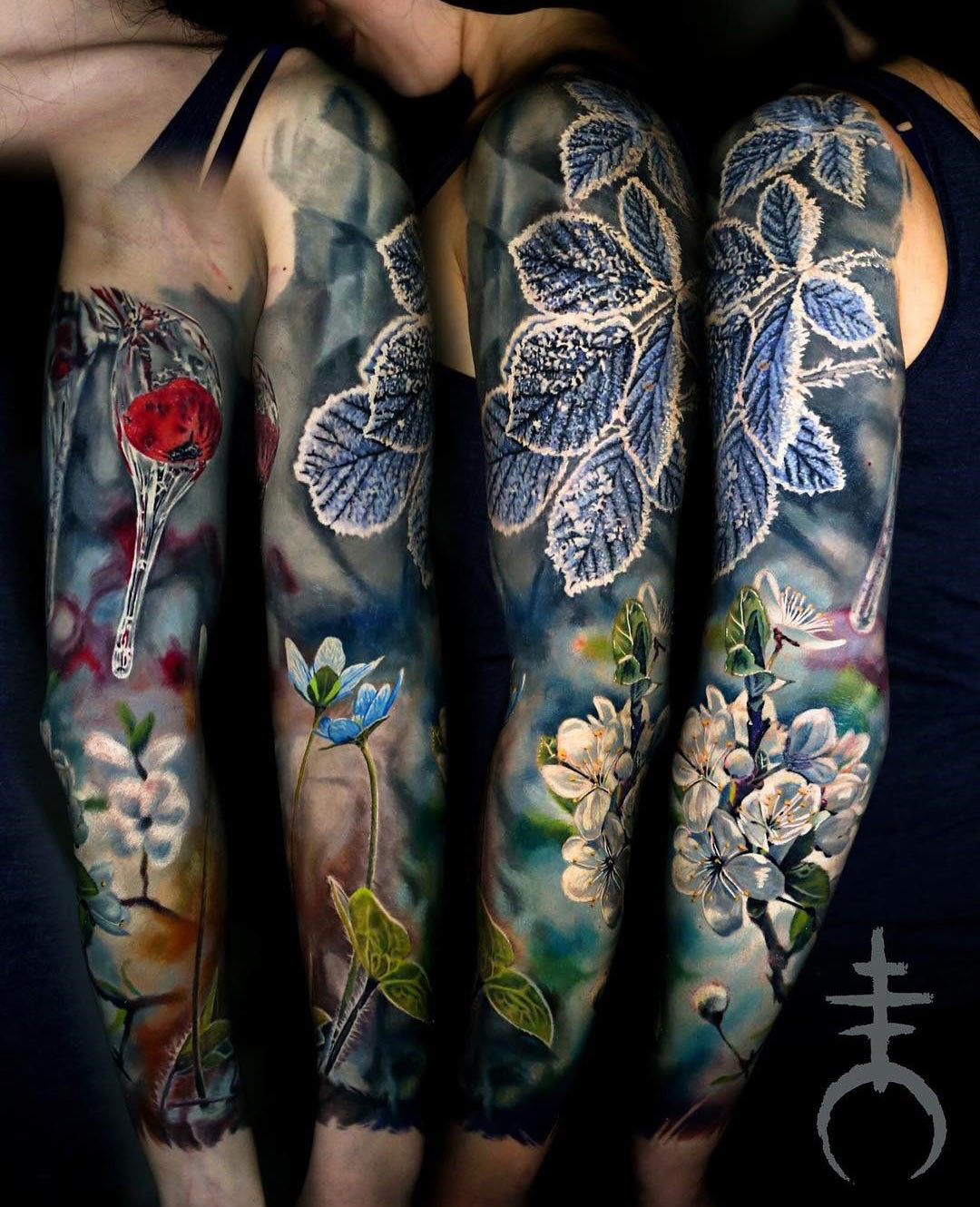 Spring & Winter Sleeve | Best tattoo design ideas