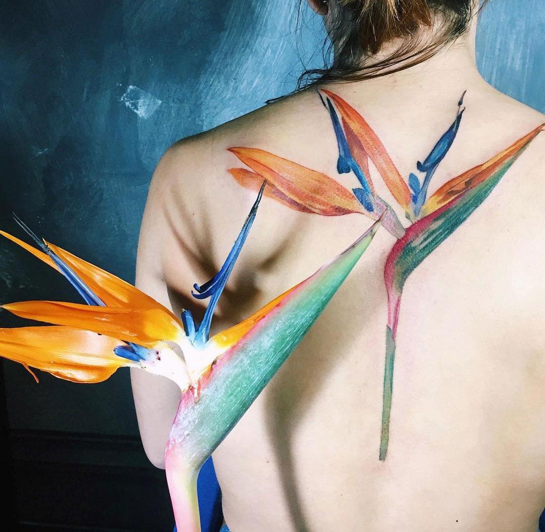 aa9a2f4fd1176 Bird of Paradise Flower | Best tattoo design ideas