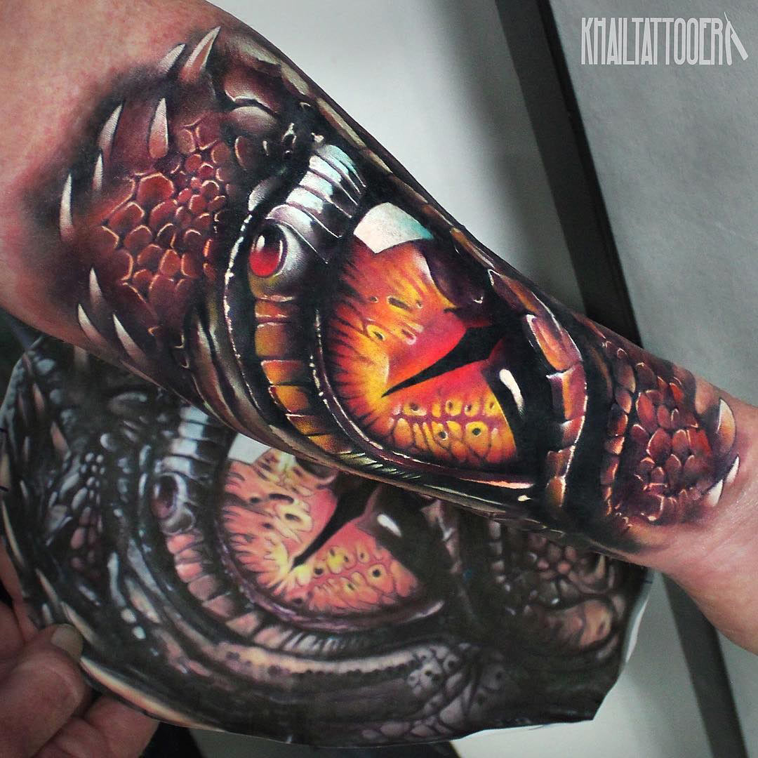 Dragon's Eye Forearm Tattoo