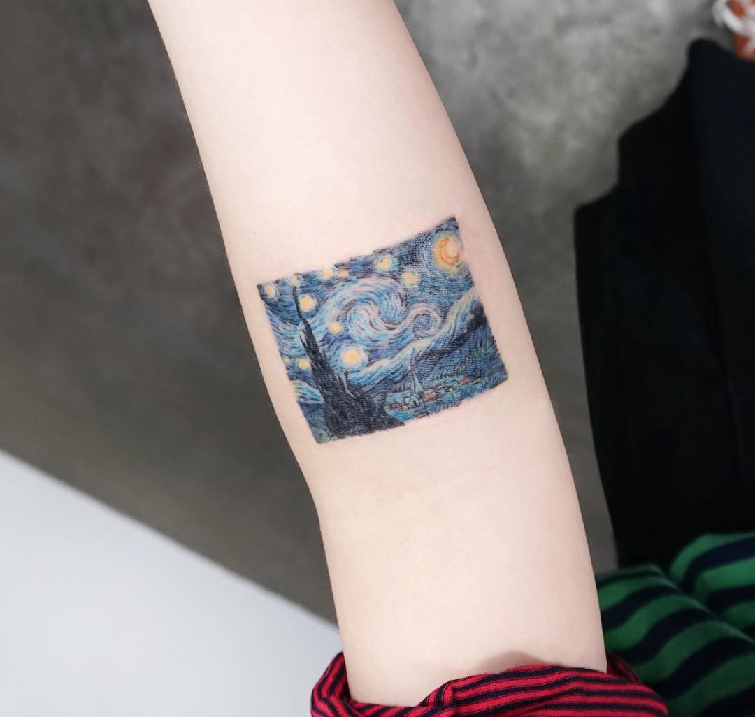 The Starry Night by Van Gogh Tattoo