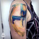Fibonacci spiral tattoo