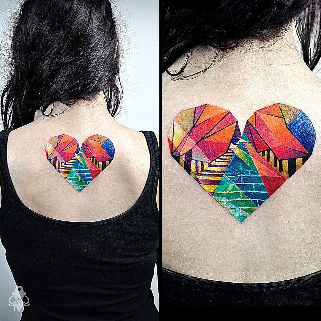 Colorful Geometric Heart