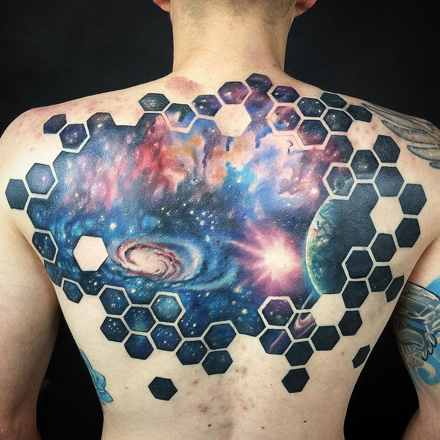 Space Back Tattoo