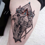 Ornamental elephant tattoo