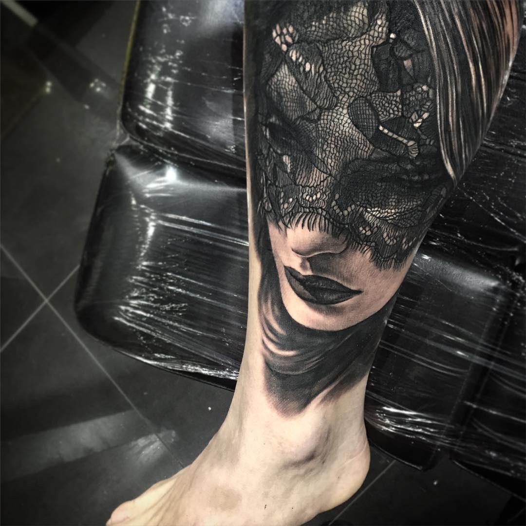Realism Lace Veil Portrait