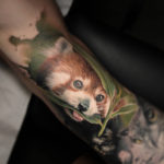 Red Panda Bicep Tattoo