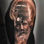 Sailor & ship tattoo