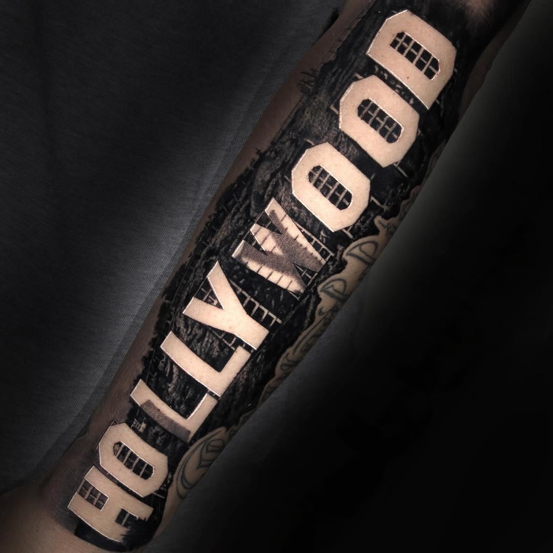 Hollywood Sign tattoo