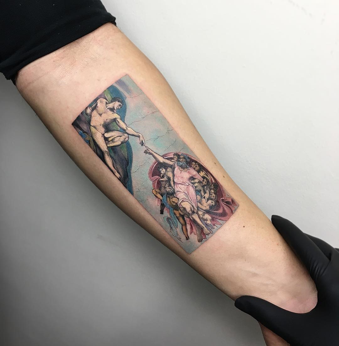 The Creation of Adam Tattoo